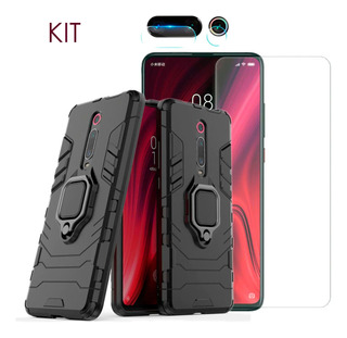 Capa Armor + Película Display + Película Câmera Mi 9t / K20