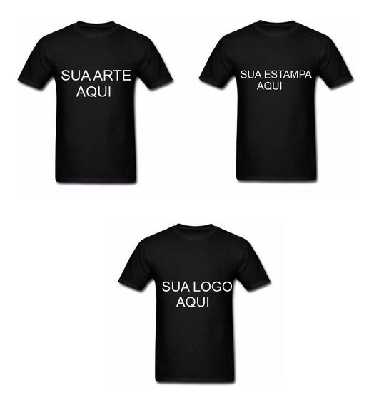 Kit 3 Camisetas Algodão Personalizadas Com Sua Frase, Arte
