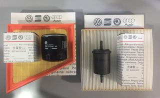 Kit 4 Filtros Originales ( Aire + Combustible + Aceite + Habitaculo ) Volkswagen Gol Trend Repuestos Originales