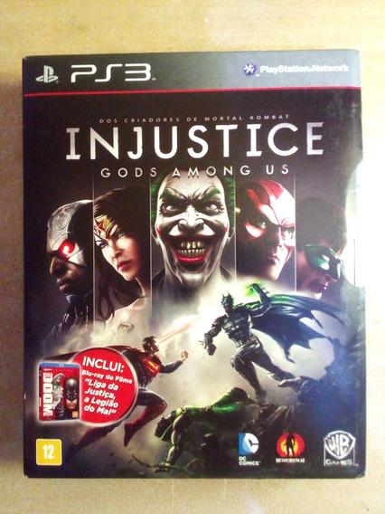 Injustice (ps3) Jogo + Blu-ray Liga Da Justiça Legião Do Mal