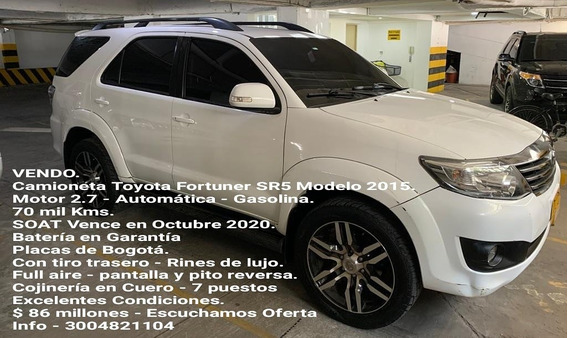 Toyota Fortuner Toyota Fortuner Sr5