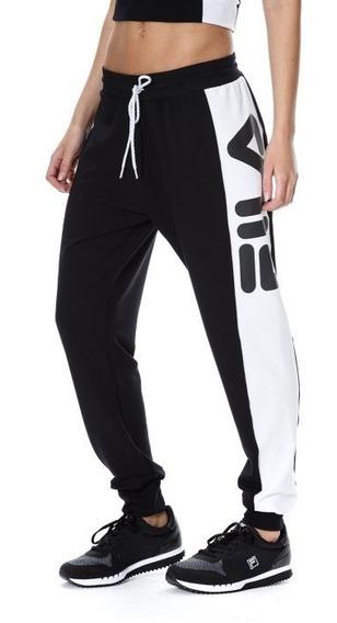 Pantalon Fila Alison Neg/bco Sport Town Envios Caba Y Bs As