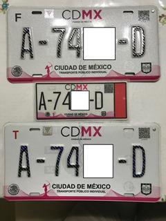 Rento Juego De Placas Para Taxi D.f.