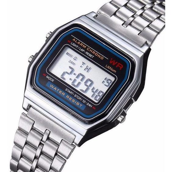 Relógio Casio Prata Luxo Garantia + Brinde Feminino Da Moda