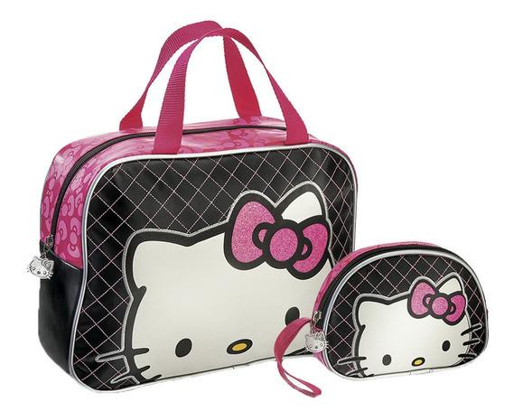 Bolsa Para Dama Y Cosmetiquera Hello Kitty Krnj Fuller