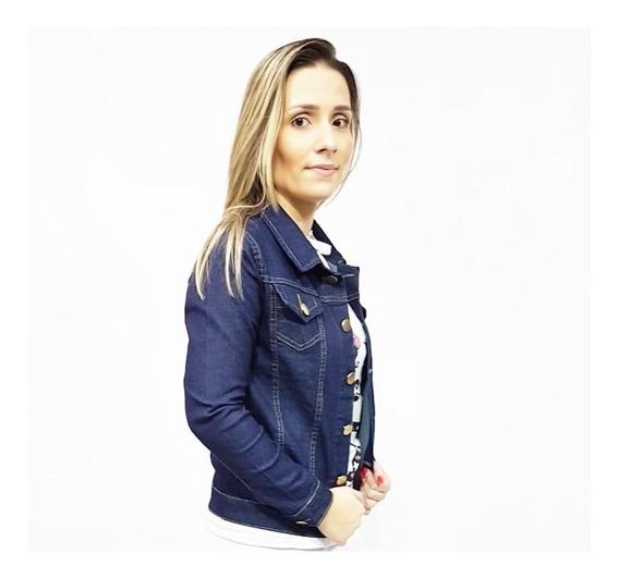 Jaqueta Jeans Feminina Com Lycra Do P Ao G3