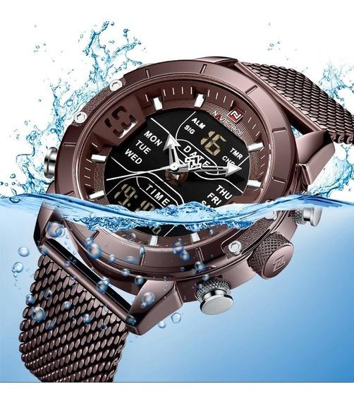 Relógio Naviforce Lançamento Sport Masculino A Prova D