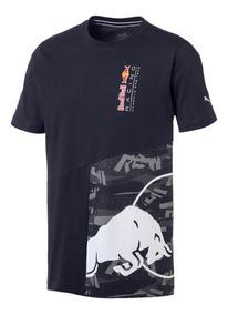 Camiseta Puma Red Bull Double Bull - Marinho - Original