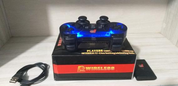Controle Sem Fio Ps2 - Wireless - 3 Jogos De Brindes