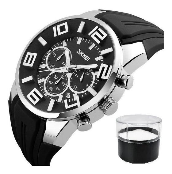 Relógio Masculino Modelo Mega Super Luxo Show Serie Top Full