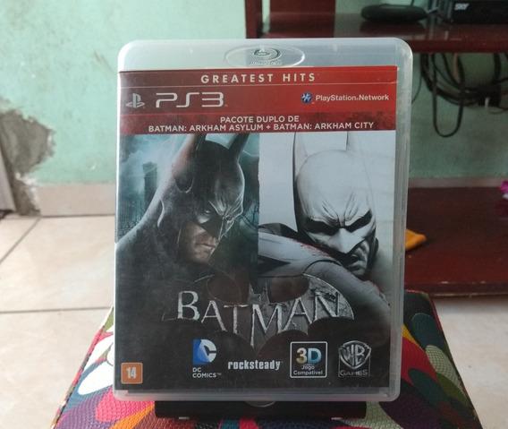 Jogo Duplo Ps3 Batman Arkham Usado (mídia Física).