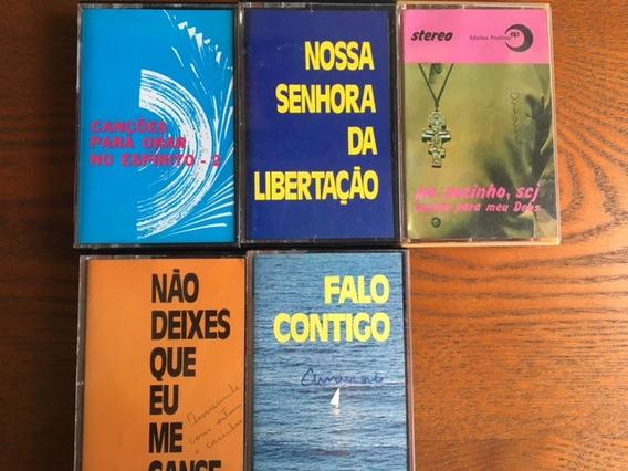 5 K7 Religiosos - Padre Zezinho, Cançoes Para Orar, Etc...