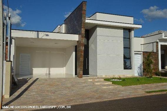 Casa Em Condomínio Para Venda Em Presidente Prudente, Condomínio Residencial Valencia I, 3 Dormitórios, 1 Suíte, 3 Banheiros, 2 Vagas - 502183