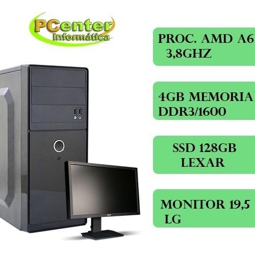 Computador Dual 3.8 Ghz, 4gb Ram, C/monitor 19,5