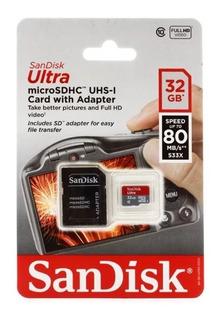 Memoria Sandisk Ultra Micro Sd Hc Card-32gb, Class 10, Uhs-i
