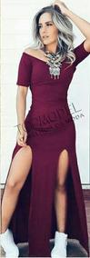 Vestido Longo Sereia C/ Fenda Ciganinha Vestido Casuais