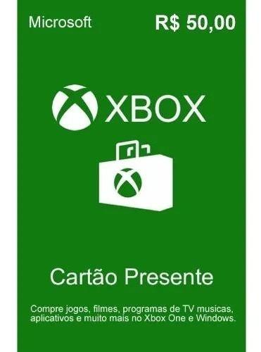 Cartão Presente Xbox