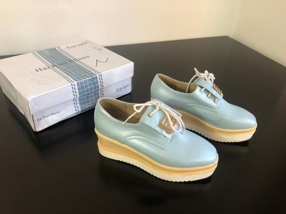 Zapatos De Dama Azules Con Plataforma