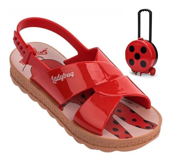 Sandália Ladybug Trip Bag Grendene Kids