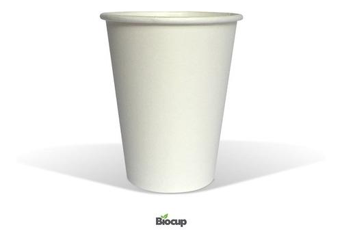 Vaso Ecológico De Papel 12 Oz Blanco Biocup, Reciclable 100%