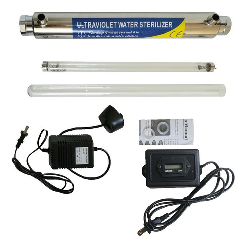 Lampara Ultravioleta Uv 25w Con Horometro Filtro De Agua