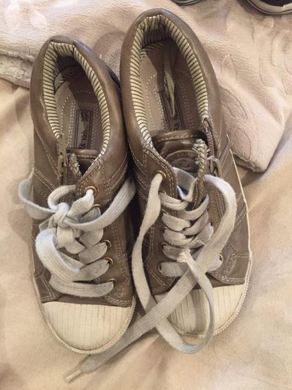 Zapatillas De Cuero Martines De Zara Niños 32