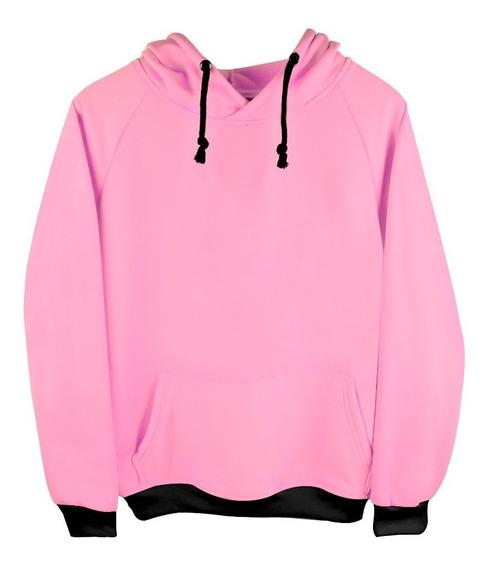 Sudadera Con Gorro Varios Colores Rosa-menta-amarillo Adulto