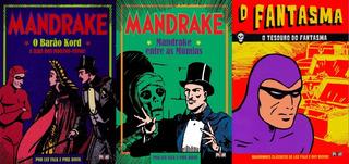 Hq Encadernada Mandrake + O Fantasma Em Lote C/ 3 Vols.
