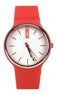Reloj Hombre Mujer Diesel 6994 Acero Y Silicona Wr 30 Mts
