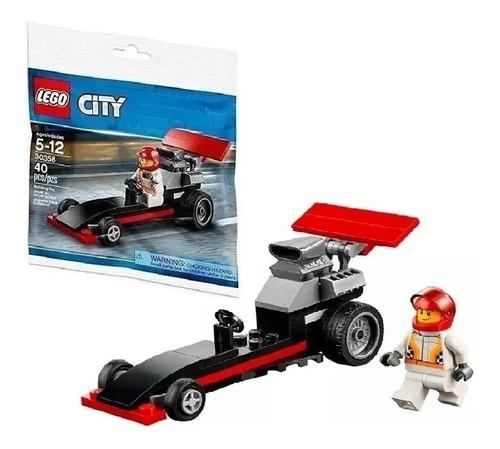 Lego City 30358 Auto Dragster Coche Carrera + Libro Nº8