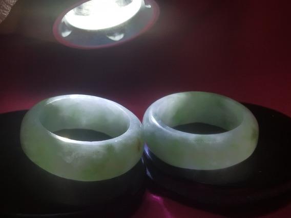 2 Anillos De Jade Manzano Auténticos
