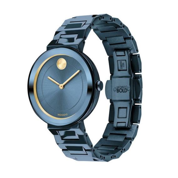 Reloj Movado 3600499 Acero Inoxidable Azul Mujer