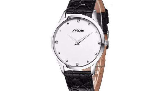 Relógio Masculino Pulso Sinobi Analógico Snb002 Branco