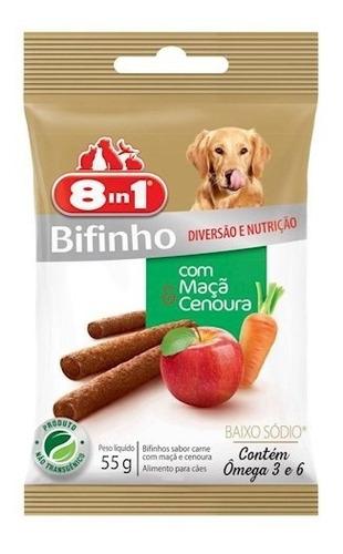 Bifinho Para Cães Sabor Maça E Cenoura 8in1 - 55g