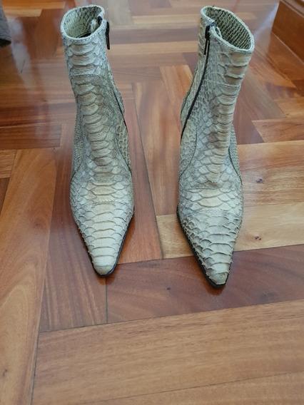 Botas De Cuero Anaconda. Nuevas. Punta Fina