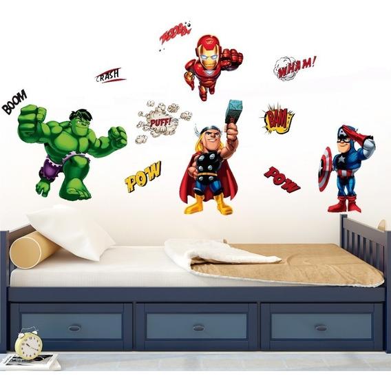 Vinilo Decorativo Escuadrón De Superhéroes-i 01. Avengers