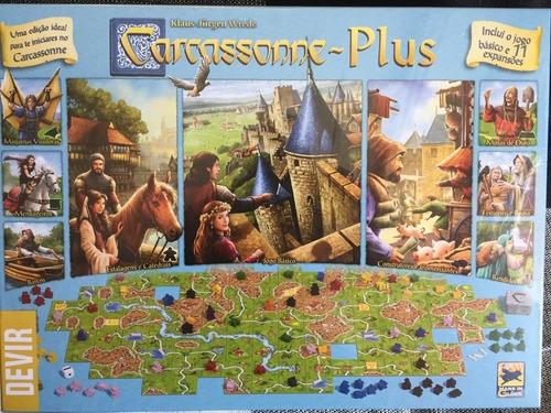 Jogo Carcassonne Plus C/11 Expansoes - Devir - Bonellihq D21