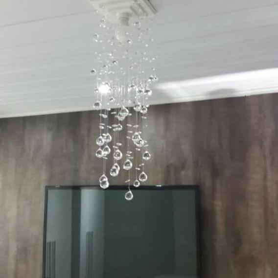 Lustre Cristal Pendente Para Sala,quarto E Cozinhas D02