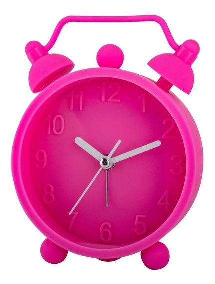 Reloj Despertador De Silicona Hello Rosa Timco