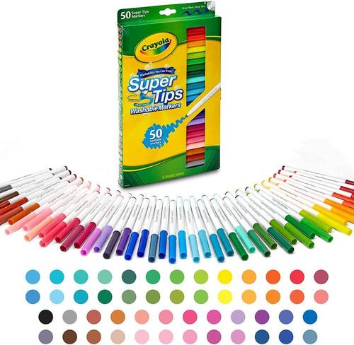 Marcadores Crayola Super Tips De 50 Unidades