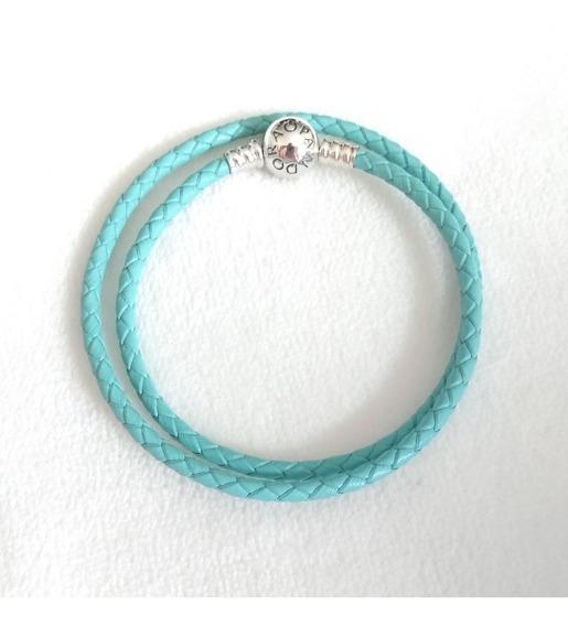 Bracelete De Couro 2 Voltas Pandora