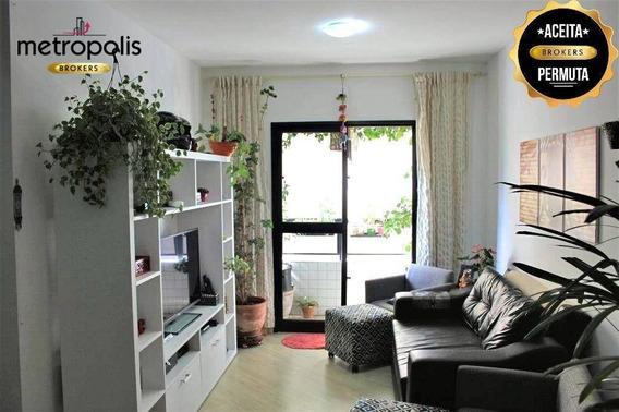 Apartamento Com 2 Dormitórios À Venda, 76 M² Por R$ 385.000,00 - Santa Maria - São Caetano Do Sul/sp - Ap1038