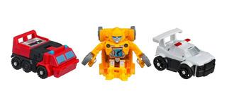 Transformers Bot Shots Battle Game Series 1 3 Pack Bumblebe