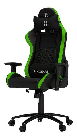 Silla Hhgears Xl-500 Gamer 3d Ergonómica Negro/verde