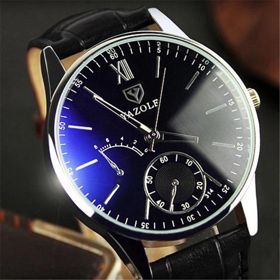 Relógio Masculino Yazole Luxo Social Frete Queima De Estoque