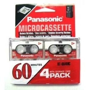Panasonic Micro Cassette Mc-60 Pack Combo 4und Grabadora Mp3