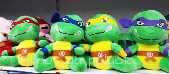 Tartaruga Ninja De Pelucia 4 Peças Rafael , Leo, Donatelo,ni