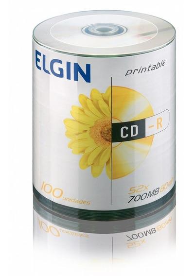 Cd-r Printable 52x 700mb 80min Bulk 100 Elgin