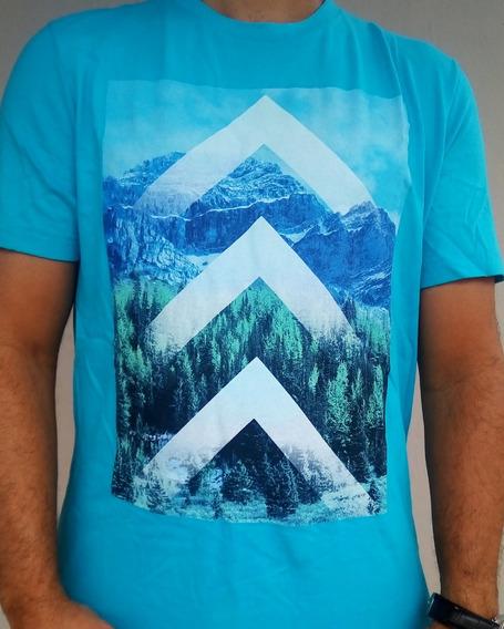 Camiseta Aeropostale Original Importada Azul Celeste Tam. M