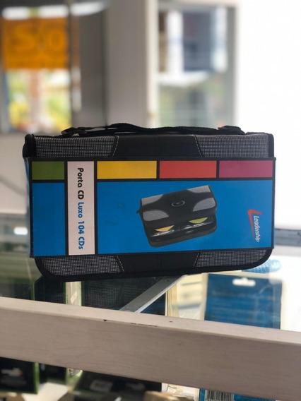 Porta Cd Dvd Midia P/104 Cds Case Luxo - Oferta
